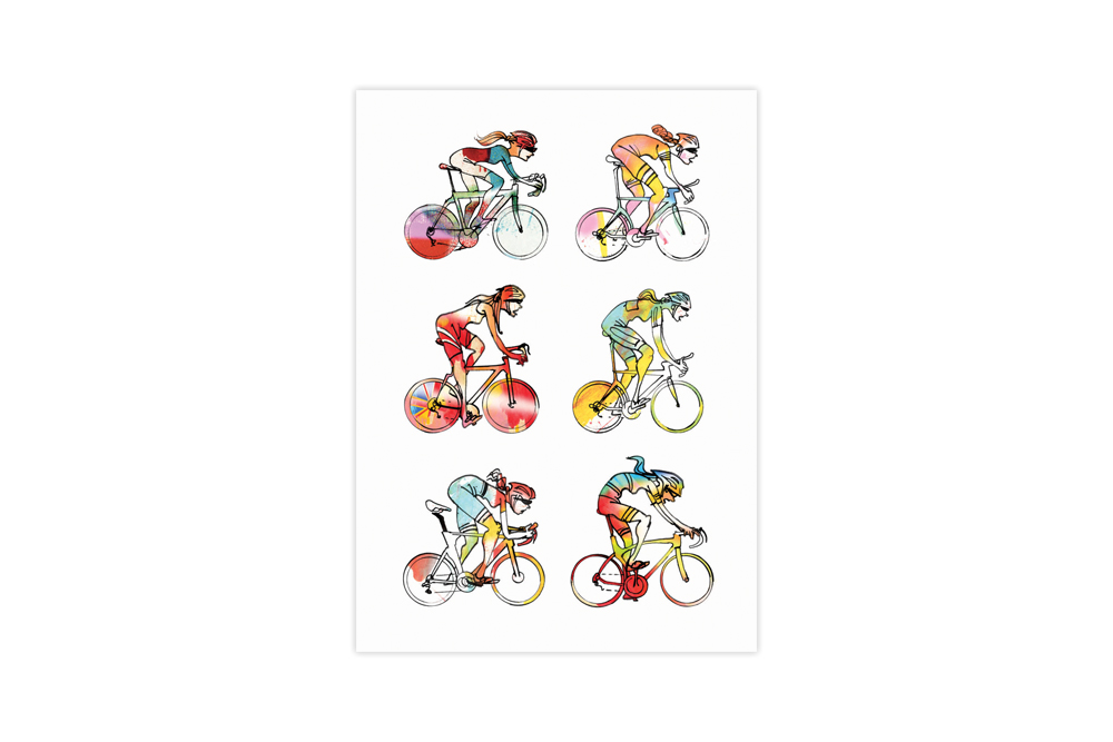 Women Roadies Bicycle Greeting Card – Simon Spilsbury