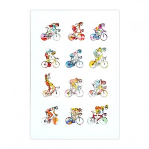 Women Roadies Cycling Print - Simon Spilsbury