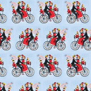 Christmas Bicycle Ride Wrapping Paper