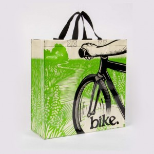 Blue Q Bike Path Bicycle Shopper Bag