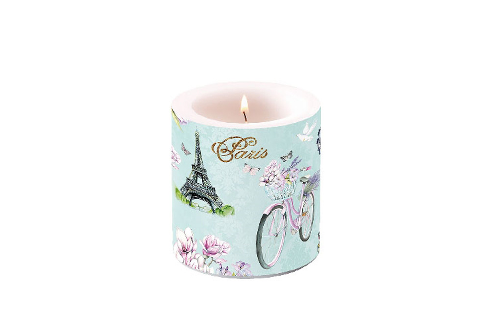 Paris Bicycle Candle