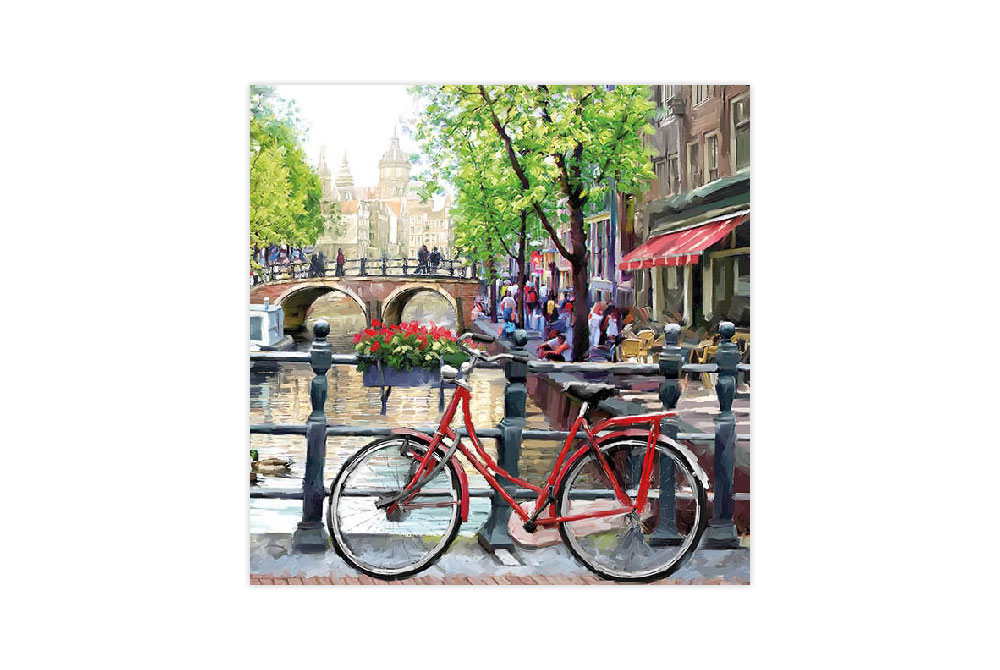 Amsterdam Bicycle Napkins