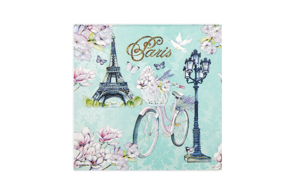 Paris Flowers Bicycle Napkins