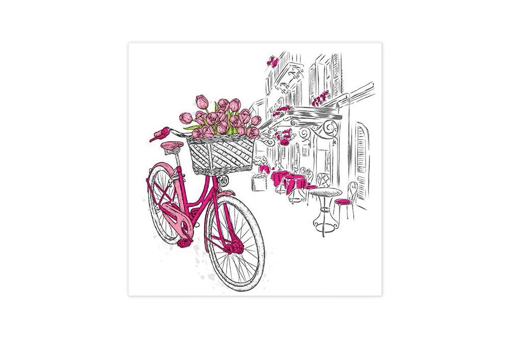 Tulips Bicycle Napkins