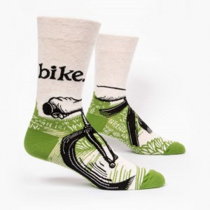 Blue Q Bike Path Men's Bicycle Socks