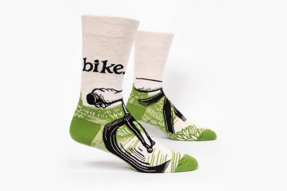 Blue Q Bike Path Men's Bicycle Socks