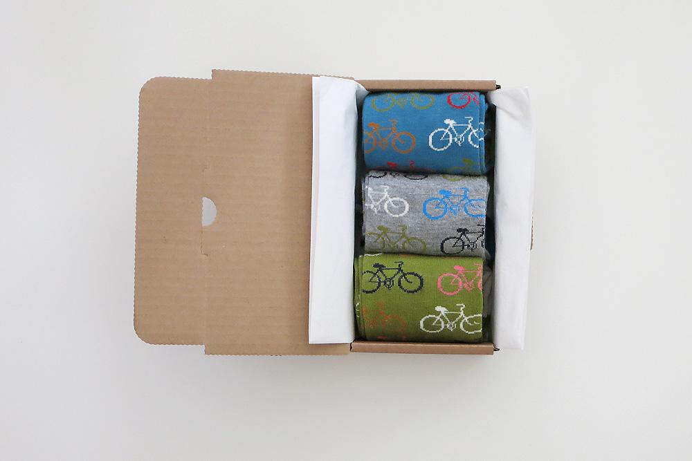 Men's Bicycles in a Box Socks Gift Box