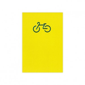 Foil Bicycle Greeting Card