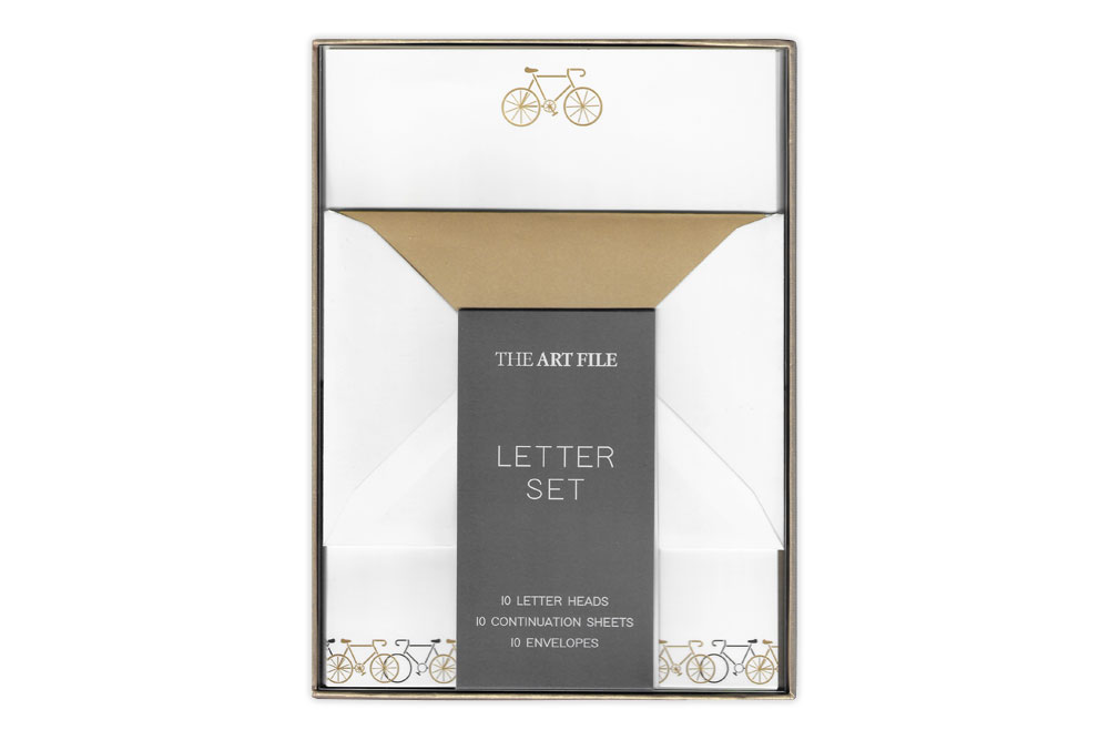 Black and Gold Foil Racing Bicycle Letter Set