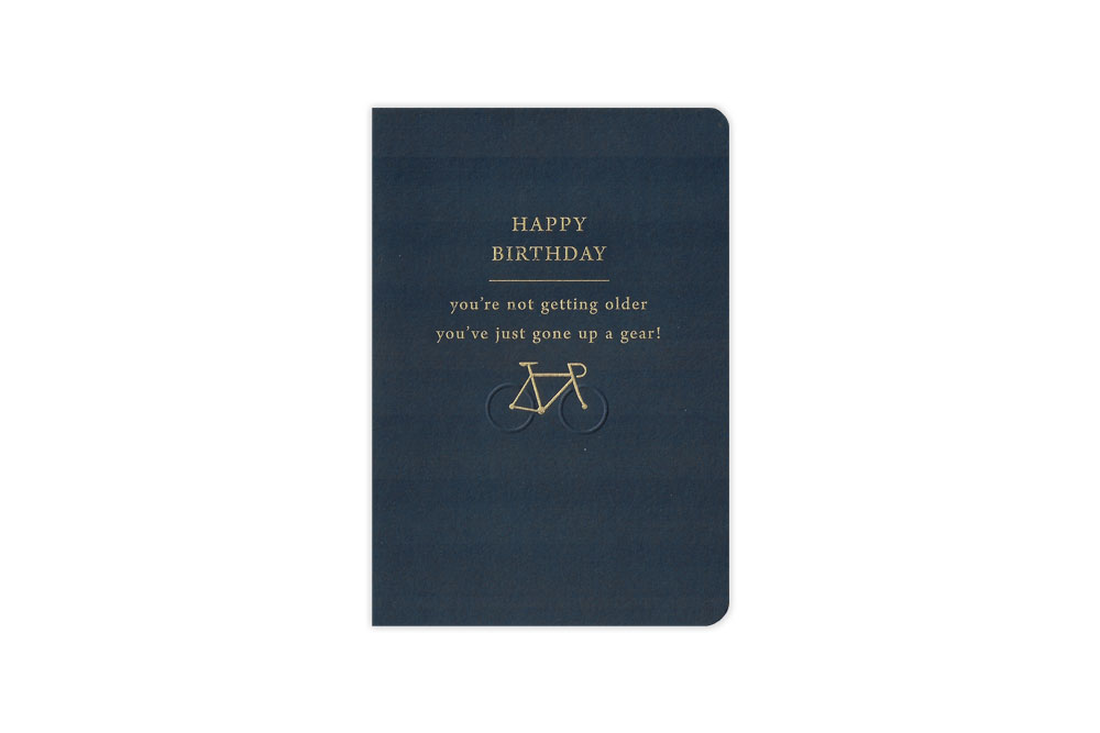 Gone up a Gear Bicycle Birthday Card