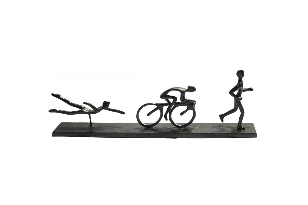Triathlon, Swim, Cycle, Run Sculpture