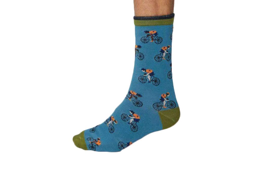 Men's Racing Bicycle Socks – Dusty Blue