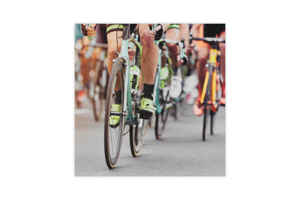 Bianchi Racing Bicycle Greeting Card