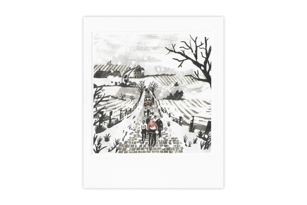 Eddy, Flanders 1970 Bicycle Greeting Card by Tom Jay