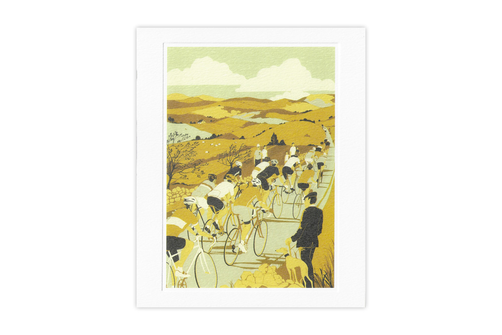 Tour de Yorkshire Bicycle Greeting Card by Eliza Southwood