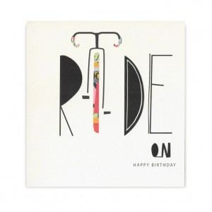 Ride On Racing Bicycle Birthday Card