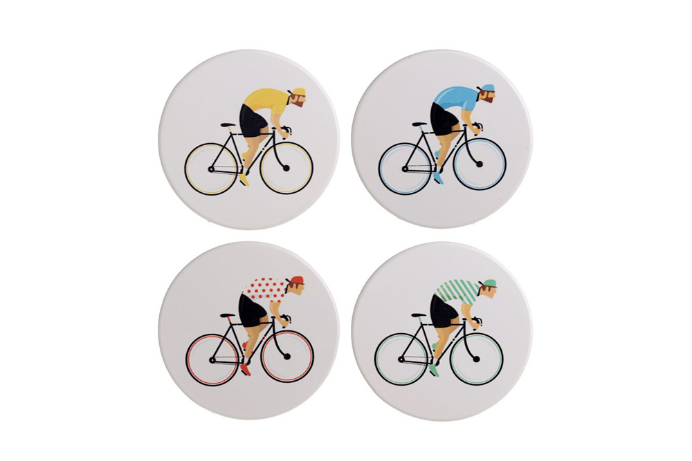 Cycle Works Racing Cyclist Drinks Coasters