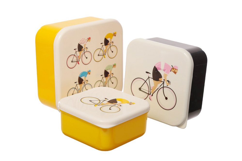 Cycle Works Racing Cyclist Lunch Boxes x 3