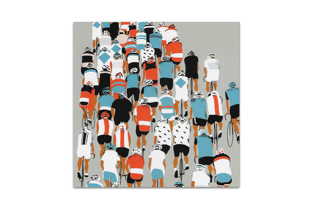 Peloton Racing Bicycle Greeting Card by Eliza Southwood