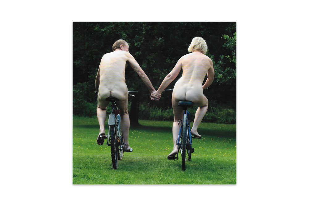 Naked Bicycle Greeting Card