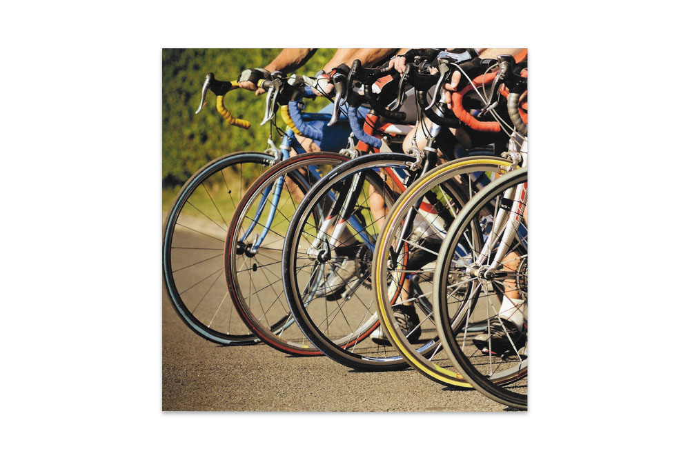 Large Racing Bicycle Greeting Card
