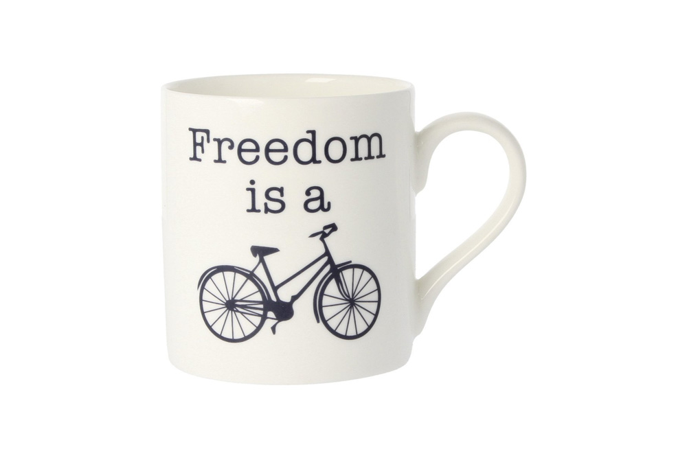 Freedom is a Bicycle Mug