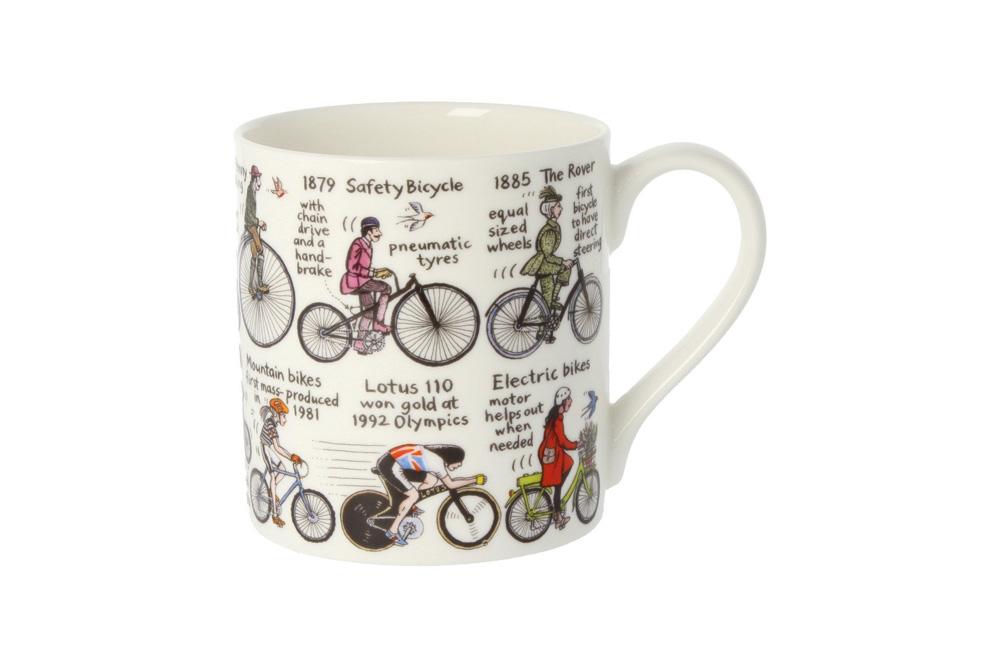 History of Cycling Mug Bicycle Mug
