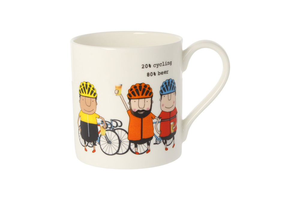 20% Cycling 80% Beer Racing Bicycle Mug