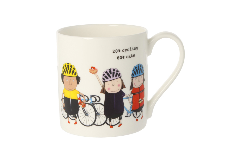 20% Cycling 80% Cake Racing Bicycle Mug