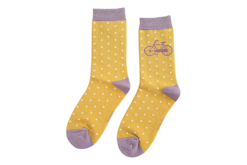Women's Vintage Bicycle Socks – Soft Yellow