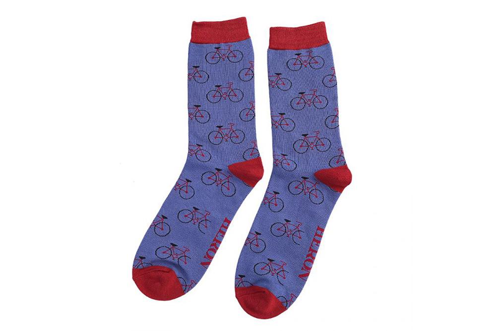 Men's Bicycle Socks – Blue
