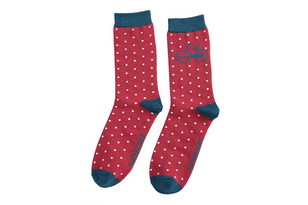 Men's Vintage Bicycle Socks – Deep Red