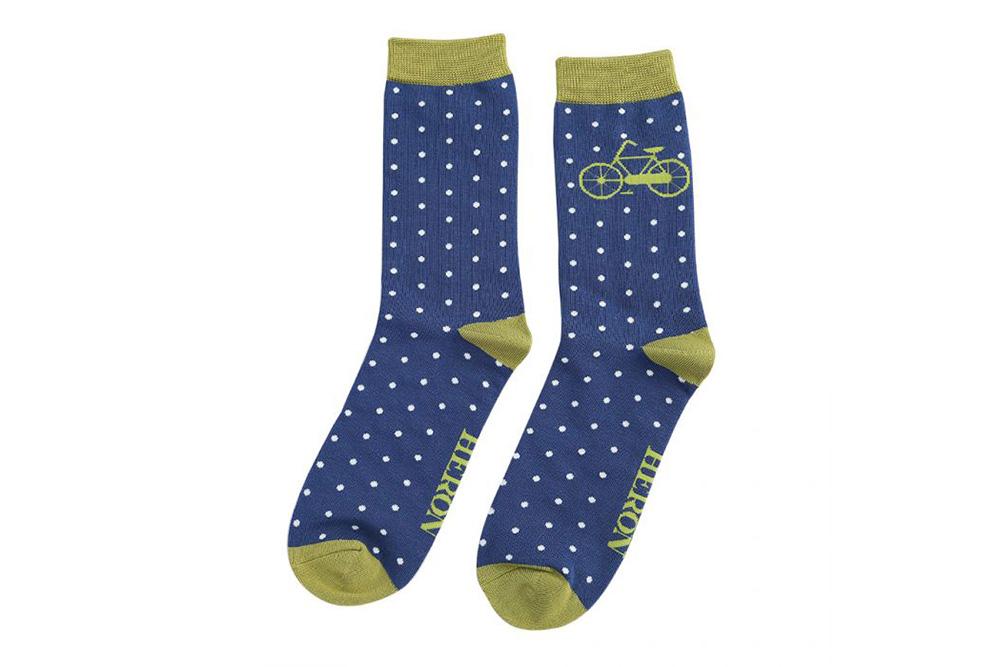 Men's Vintage Bicycle Socks – Blue