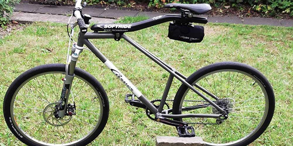 Elli's Softride bicycle, monkii clip, monkii V cage and monkii V wedge