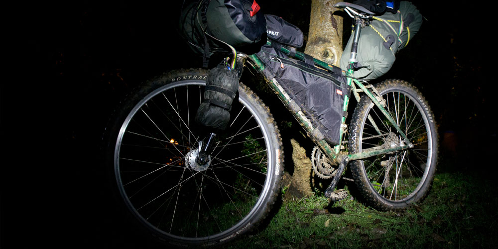 Bikepacking with a monkii clip and monkii V cage