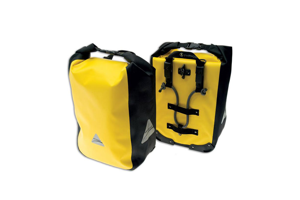 Axiom Yellow Typhoon LX 30L Bicycle Panniers