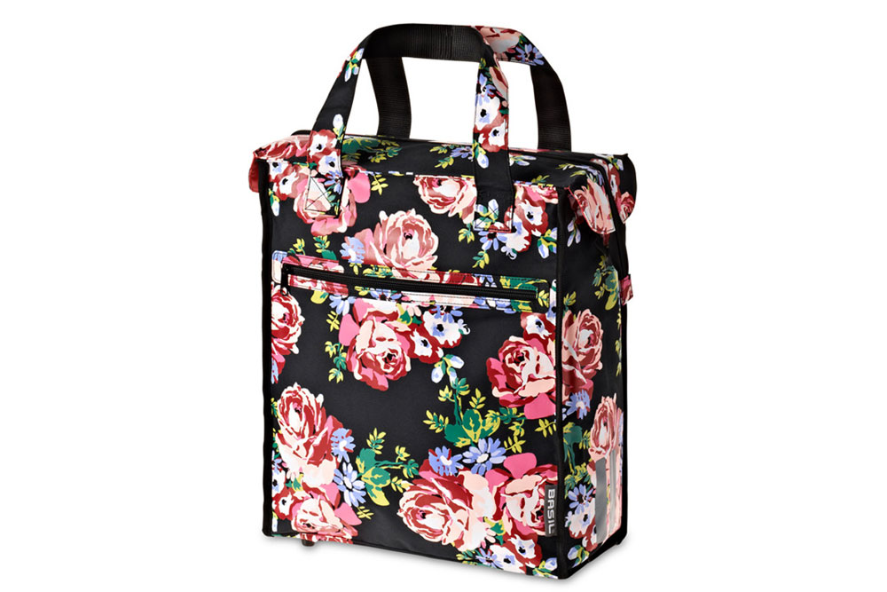 Basil Blossom Roses Bicycle Shopper Bag