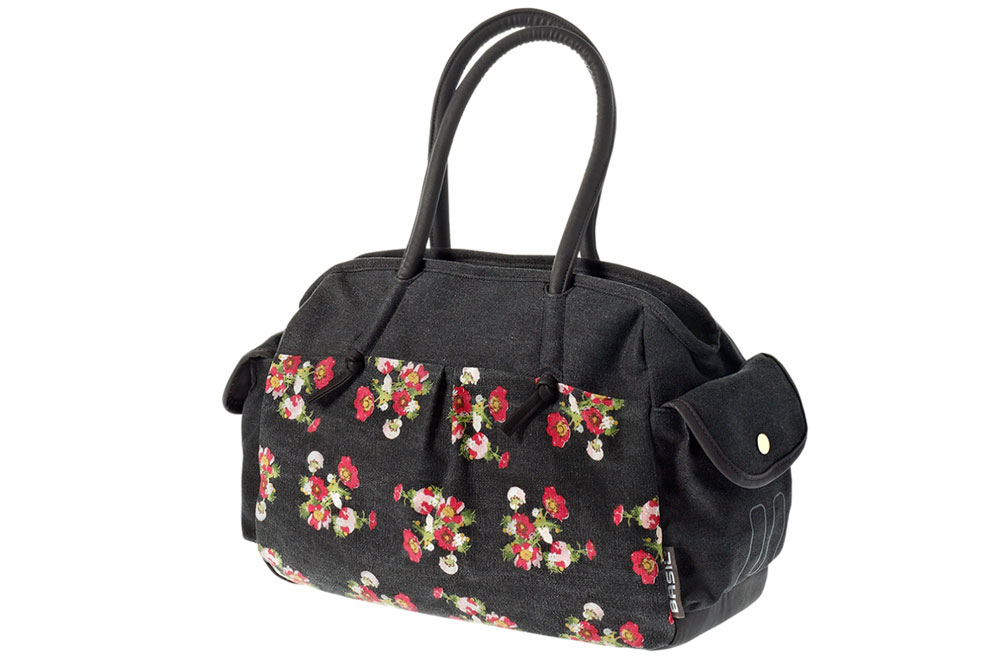 Basil Katharina Vintage Floral Bicycle Pannier Bag