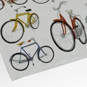 Blue Q White Bicycle Zipper Bag