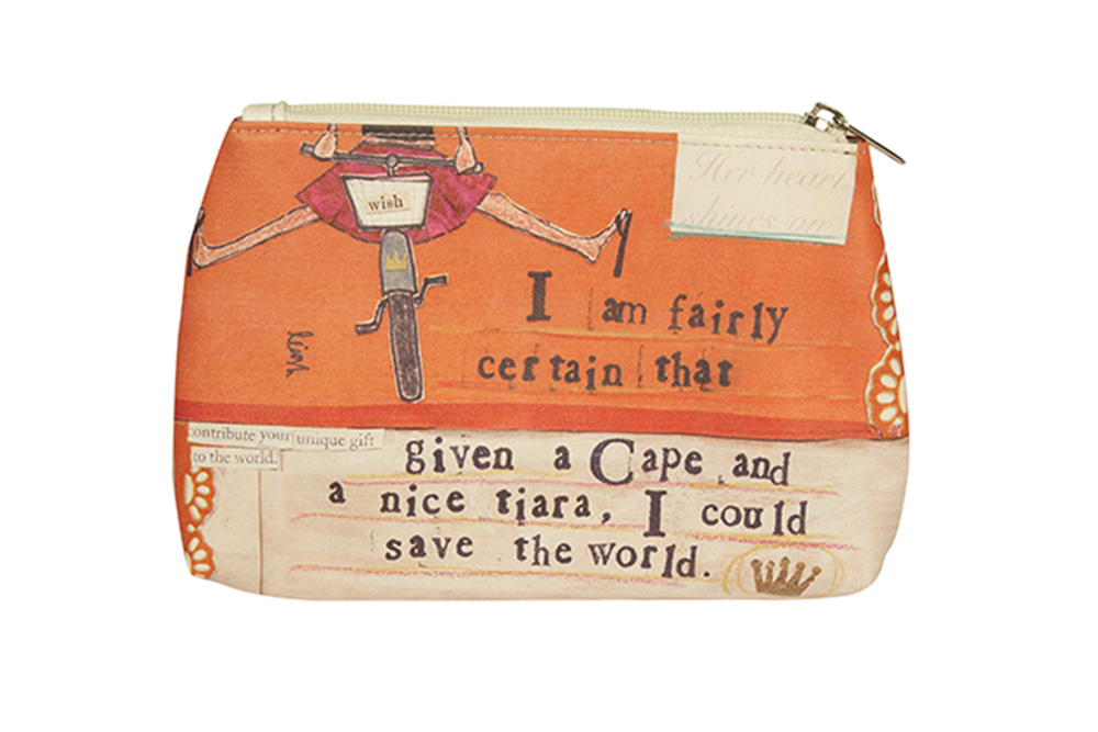 Curly Girl Bicycle Wash Bag – Make Up Bag