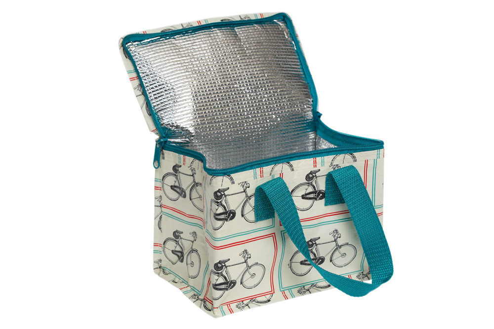 Bicycle Riders Foil Lined Lunch Bag