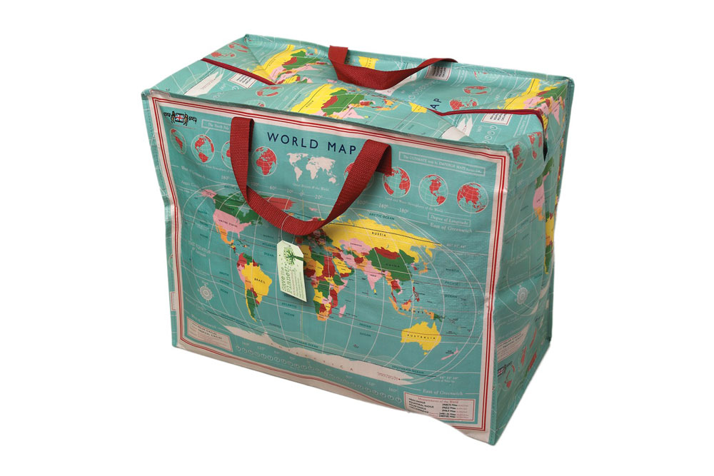 World Map Jumbo Bag