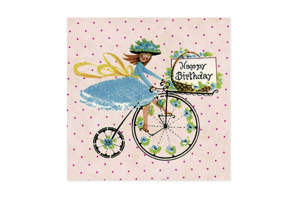 Happy Birthday Fairy Bicycle Greeting Card