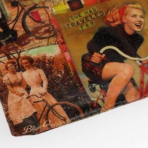 Blue Q Red Bicycle Zipper Bag