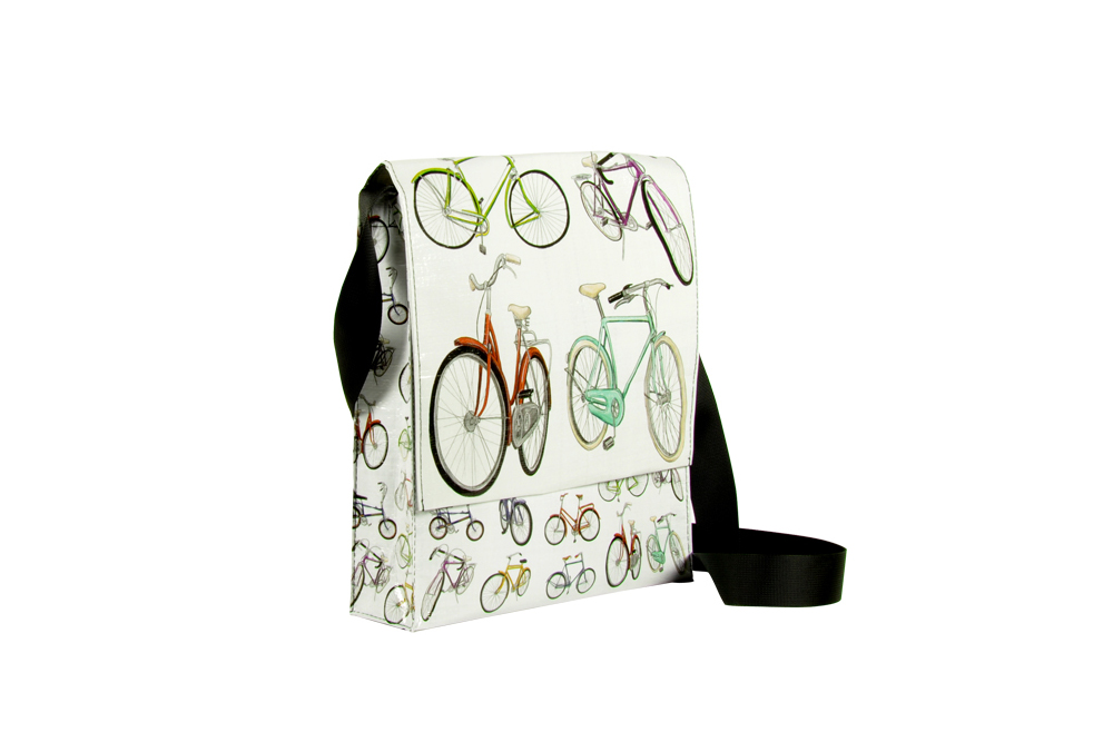 Blue Q White Bicycle Messenger Bag