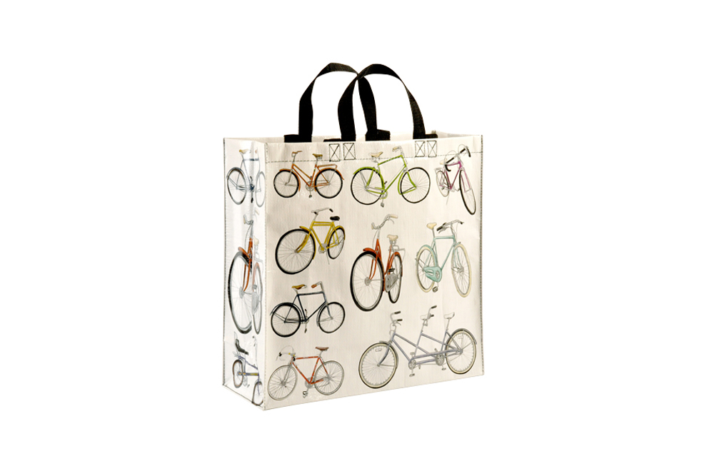 Blue Q White Bicycle Shopper Bag