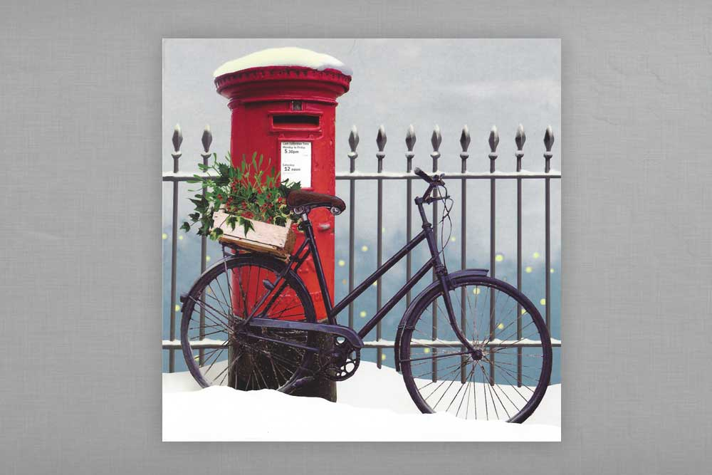 Bike n Box Christmas Cards x 8