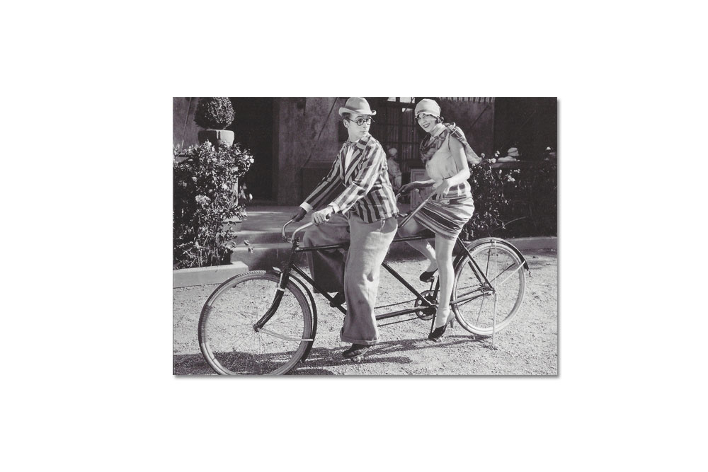 A Bicycle Made For Two Bicycle Greeting Card