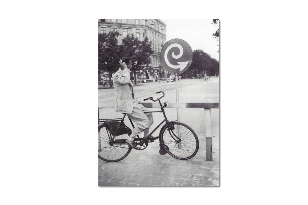 Confused Bicycle Greeting Card