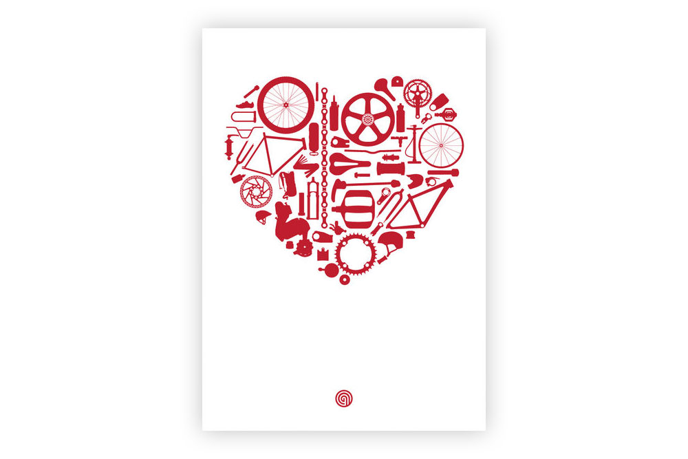 Bike Love Bicycle Greeting Card By Anthony Oram Cyclemiles